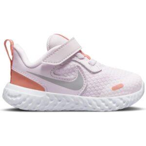 Nike Revolution 5 TDV - Toddler Running Shoes - Light Violet/Metallic Platinum/Crimson Bliss