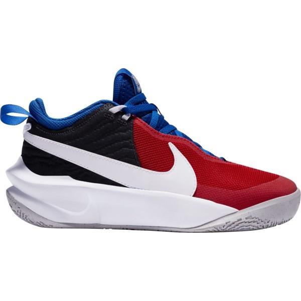 Nike Team Hustle D 10 GS - Kids Basketball Shoes - Off Noir/White/University Red/Game Royal