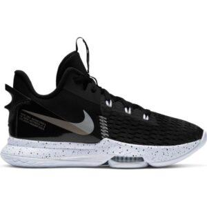 Nike Lebron Witness V - Mens Basketball Shoes - Black/Metallic Silver/White