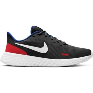 Nike Revolution 5 GS - Kids Running Shoes - Black/White/University Red/Game Royal