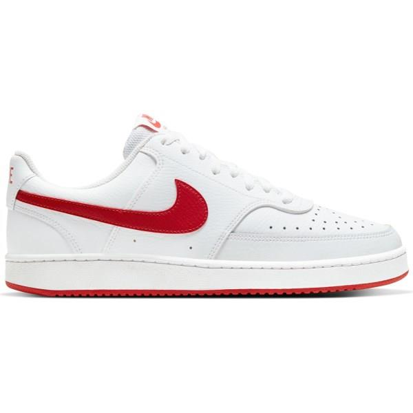 Nike Court Vision Low - Mens Sneakers - White/University Red