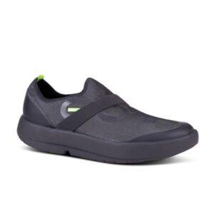 OOFOS OOmg - Mens Low Sneakers - Black/Grey