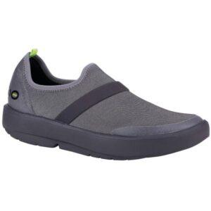 OOFOS OOmg Fibre Low - Womens Sneakers - Grey/Black
