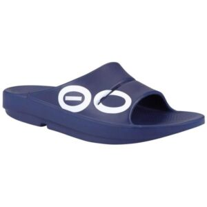 OOFOS OOAHH Sport - Unisex Recovery Slides - Navy
