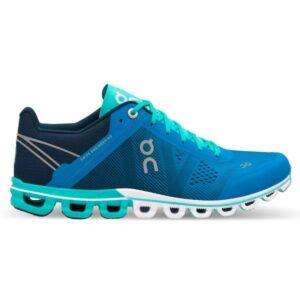 On Cloudflow Classic - Womens Running Shoes - Malibu/Curacao