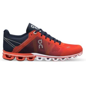 On Cloudflow Classic - Womens Running Shoes - Crimson/Midnight