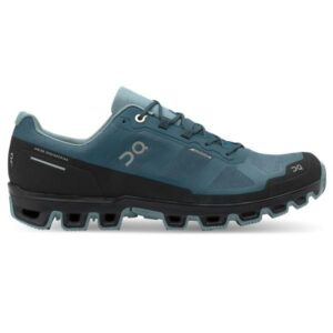 On Cloudventure Waterproof - Mens Trail Running Shoes - Storm/Cobble