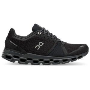 On Cloudstratus - Mens Running Shoes - Black/Shadow