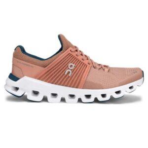 On Cloudswift Classic - Womens Running Shoes - Blush/Denim