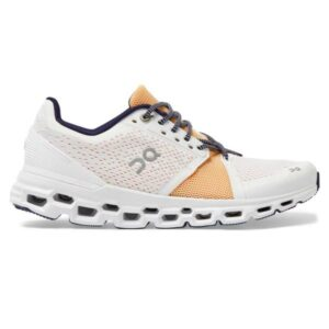 On Cloudstratus - Womens Running Shoes - White/Almond