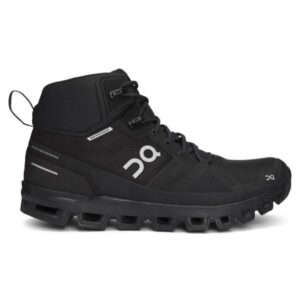 On Cloudrock Waterproof - Womens Hiking Shoes - All Black