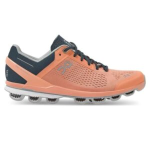 On Cloudsurfer - Womens Running Shoes - Coral/Navy