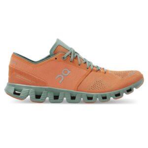 On Cloud X - Mens Running Shoes - Orange/Sea