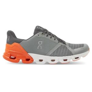 On Cloudflyer - Mens Running Shoes - Grey/Orange