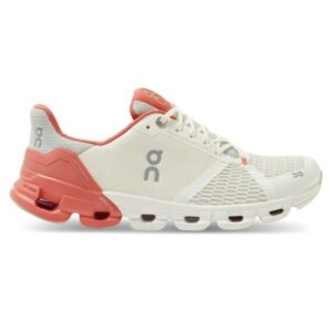 On Cloudflyer - Womens Running Shoes - White/Coral