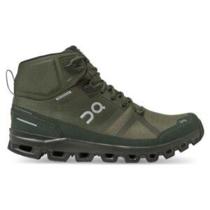 On Cloudrock Waterproof - Mens Hiking Shoes - Jungle/Fir