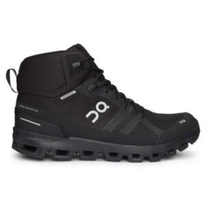 On Cloudrock Waterproof - Mens Hiking Shoes - All Black