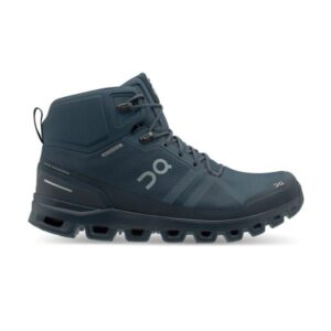 On Cloudrock Waterproof - Mens Hiking Shoes - Navy/Midnight