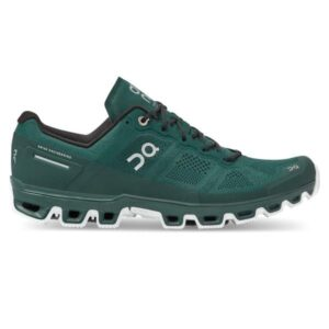 On Cloudventure - Mens Trail Running Shoes - Evergreen/White