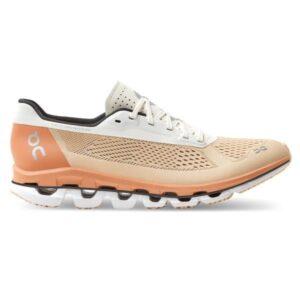 On Cloudboom - Womens Running Shoes - Savannah/White