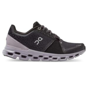 On Cloudstratus - Womens Running Shoes - Black/Lilac