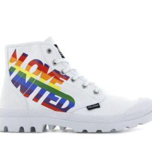 Palladium Pampa Hi Pride White