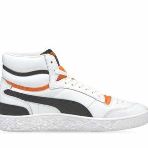 Puma Mens Ralph Sampson Mid White-Carrot- Black