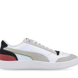 Puma Mens Ralph Sampson Lo Unity Puma White-Puma Red