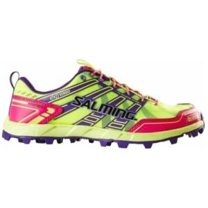 Salming Elements - Womens Trail Running Shoes - Yellow/Pink Glow