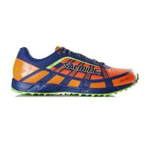 Salming Trail 3 - Mens Trail Running Shoes - Orange/Deep Blue