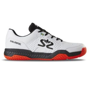 Salming Hawk - Mens Indoor Court Shoes - White/Black/Red