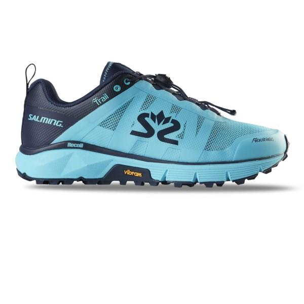 Salming Trail 6 - Womens Trail Running Shoes - Light Blue/Navy