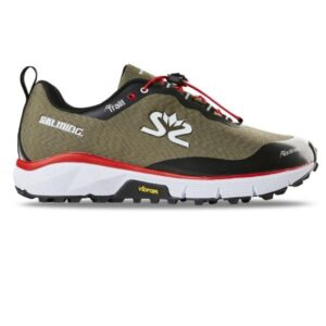 Salming Trail Hydro - Womens Trail Running Shoes - Beige/Black