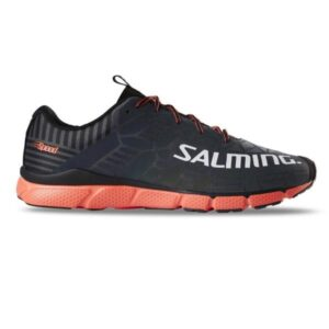Salming Speed 8 - Mens Running Shoes - Forged Iron/New Orange