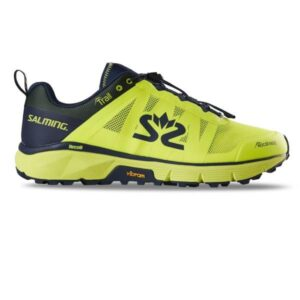 Salming Trail 6 - Mens Trail Running Shoes - Safety Yellow/NavyBlue