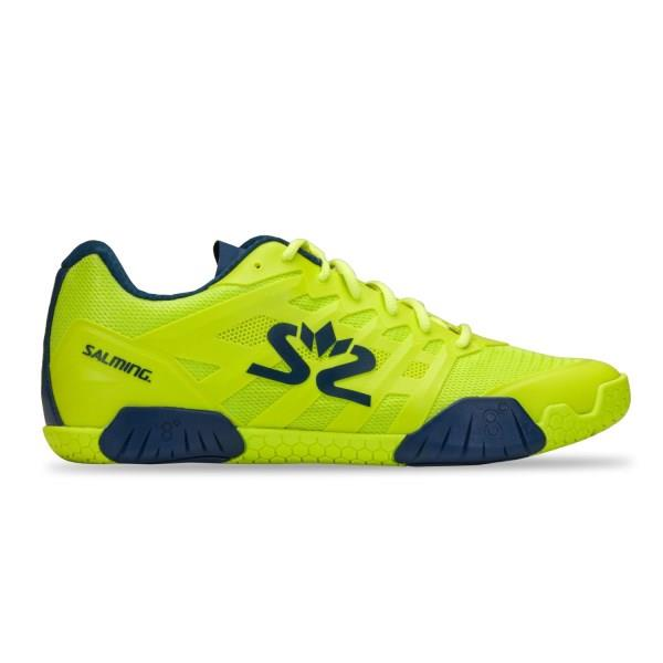 Salming Hawk 2 Indoor Court Shoes - Lime Punch/Poseidon Blue