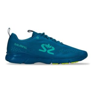 Salming EnRoute 3 - Mens Running Shoes - Blue/Safety Yellow