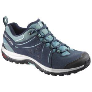 Salomon Ellipse 2 Leather - Womens Hiking Shoes - Arctic/Navy Blazer/Eggshell Blue