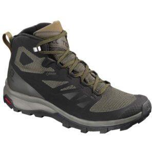 Salomon Outline Mid GTX - Mens Hiking Shoes - Black/Beluga/Capers