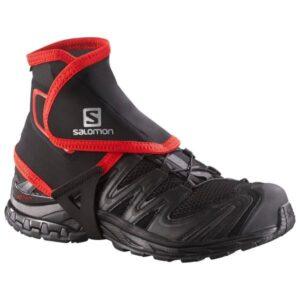 Salomon Trail Gaiters High - Trail Running Accessory - Black/Red