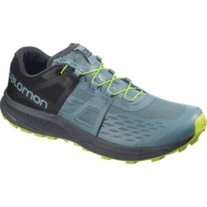 Salomon Ultra Pro - Mens Trail Running Shoes - Bluestone/Ebony/Acid Lime