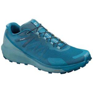 Salomon Sense Ride 3 - Mens Trail Running Shoes - Lyons Blue/Smoke Blue/Lemon Zest