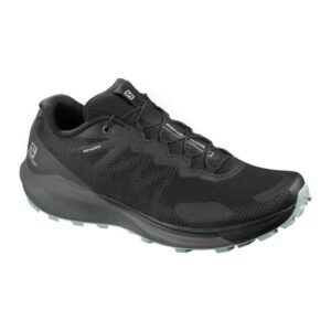 Salomon Sense Ride 3 - Mens Trail Running Shoes - Black/Ebony/Lead