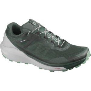 Salomon Sense Ride 3 - Mens Trail Running Shoes - Green Gables/Alloy/Oil Blue