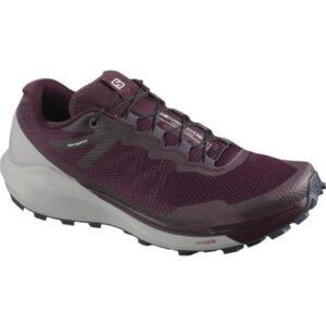 Salomon Sense Ride 3 - Womens Trail Running Shoes - Wine Tasting/Alloy/Burnt Coral