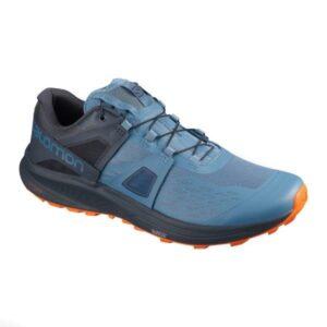 Salomon Ultra Pro - Mens Trail Running Shoes - Copen Blue/India Ink/Red Orange