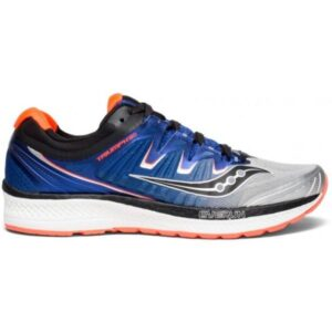 Saucony Triumph ISO 4 - Mens Running Shoes - Silver/Blue/Vizi Red