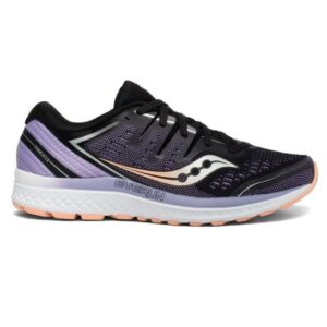 Saucony Guide ISO 2 - Womens Running Shoes - Black/Purple