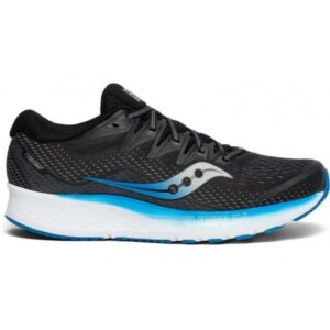Saucony Ride ISO 2 - Mens Running Shoes - Black/Blue