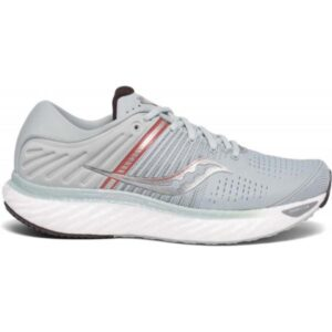 Saucony Triumph 17 - Womens Running Shoes - Sky Grey/Coral
